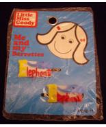 Vintage Girls Blue Elephant Hair Barrettes - Li... - $5.55