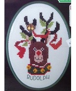 Counted Cross Stitch Kit -  Rudolph the Red Nos... - $7.88