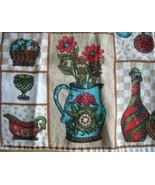 Vintage Linen - Colonial Kitchen Tea Towel - $7.88