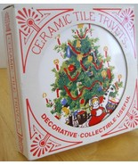 Ceramic Tile Christmas Trivets Coasters - 1982 ... - $12.88