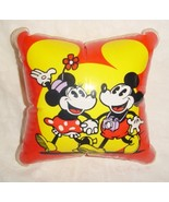 Vintage Disneyland Mickey And Minnie Inflatable Vinyl Pillow