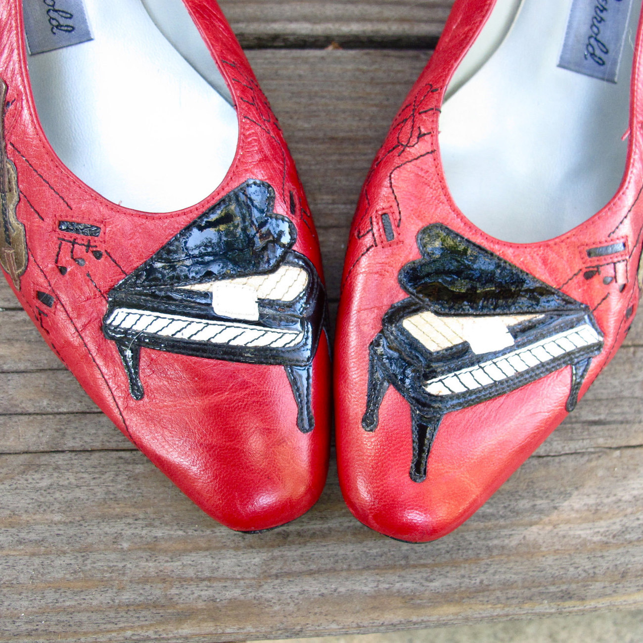 Vintage Musical Shoes by Margaret Jarrold size 10M