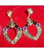 925 Sterling Silver Genuine Amethyst Earrings G... - $10.95