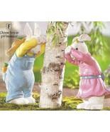 Girl & Boy Bunnies Playing  Peek-A-Boo Seasonal - $29.95