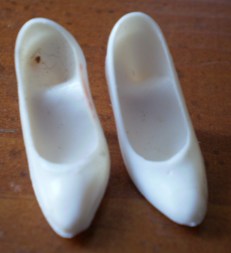 Barbie Shoes White Heels Pumps Stilettos 1980s