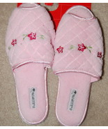 Vassarette Slip on Slippers Womens Medium Pink Peep Toe - $4.50