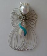 Cervical Cancer Awareness Angel Ornament Handmade - $7.65