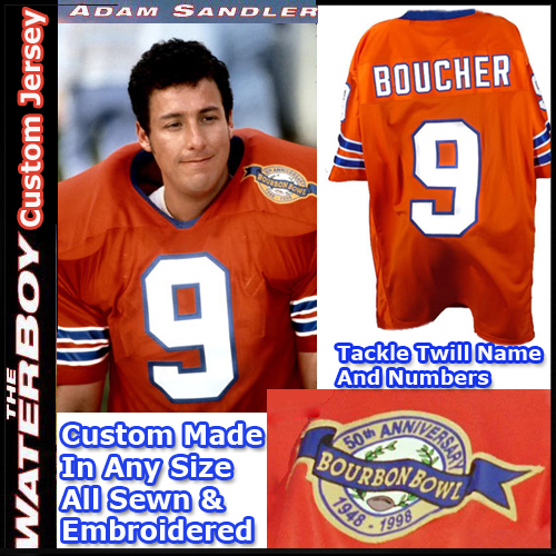 Bobby Boucher Adam Sandler The Waterboy Football Jersey Smal