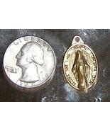 Religious medalion M w/cross and figure pendant - $10.00