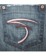 Frankie B. Pink/Purple F Pocket Flare Jeans Dar... - $49.99