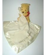 Disney Winnie the Pooh Baby's 1st Pooh Bear Security Blanket Lovey Cream Plush - $22.95