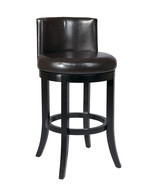 Espresso Brown ECO Leather Bar Swivel 30H Seat ... - $189.99