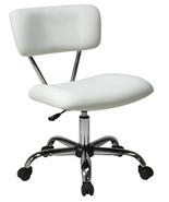Vista Task Chair WHITE Vinyl Desk Task Swivel O... - $89.99