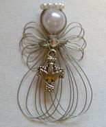 Cross with Dove Religious Angel Ornament Handmade - $7.65