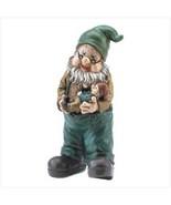 Grandpa Holding Baby Gnome Statue - $22.00