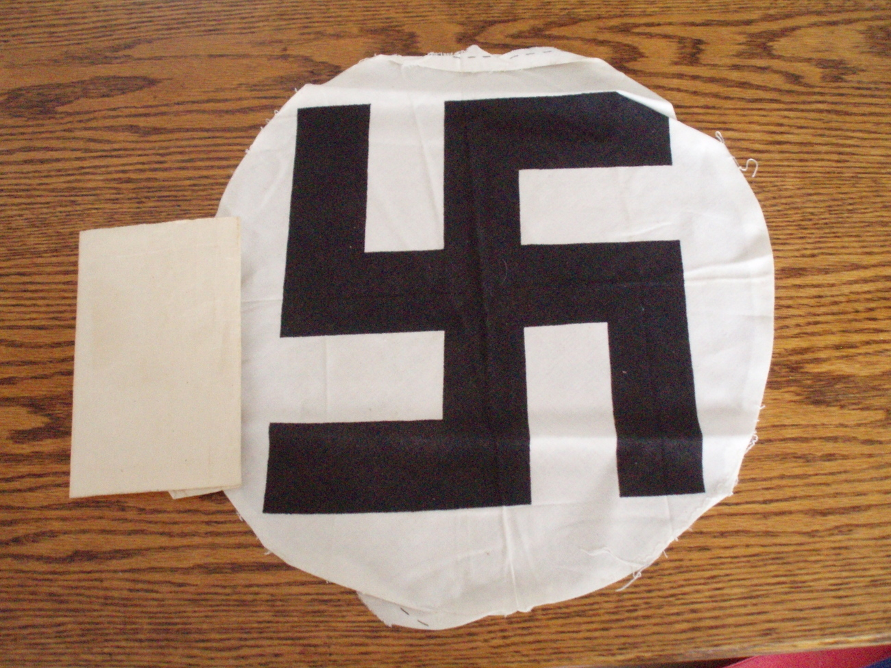 WWII German flag swastika center and soldiers letter military emphera authentic