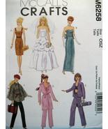 McCalls 6258 Barbie Doll Pattern 11.5 Fashion D... - $9.95