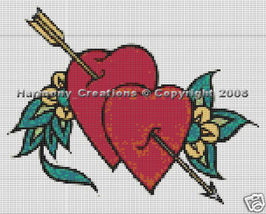 Bead Pattern Cupid Hearts and Flowers Loom Stit... - $0.00