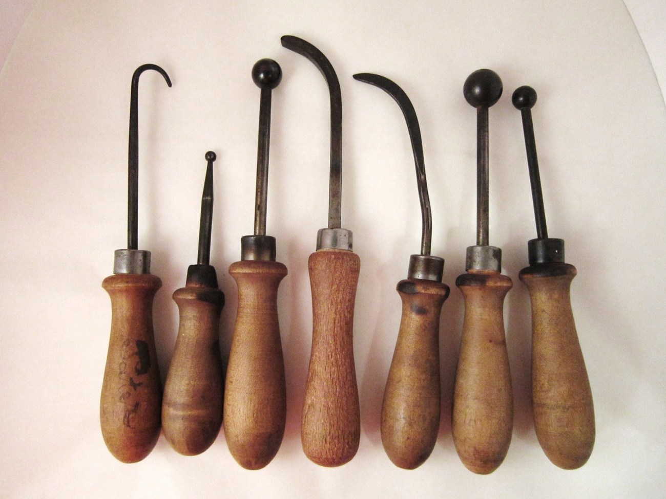 Seven Old Shoemaker Boot Making Hand Tools Leather