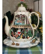 Enesco Holiday Bungalo Large Teapot Musical action