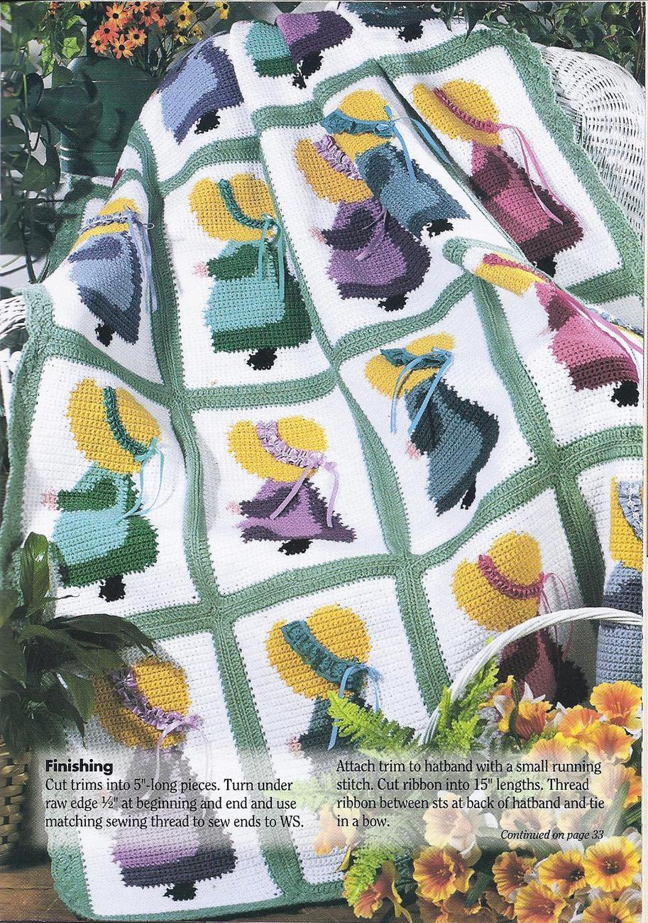 Sunbonnet Sue Afghan Crochet Pattern Afghans