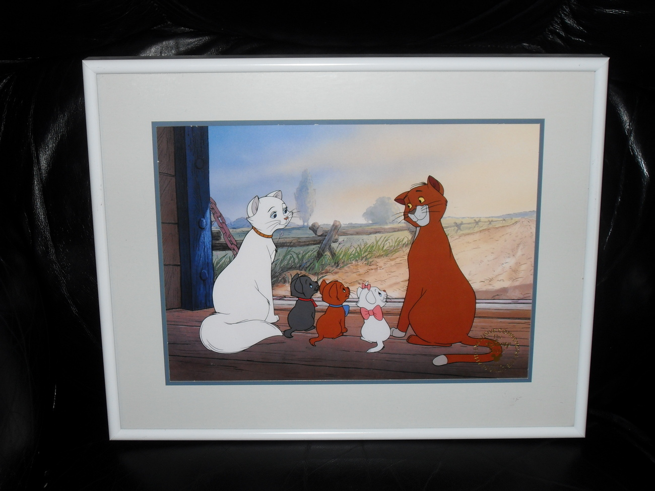 1996 Disney Aristocats Exclusive Lithograph Framed