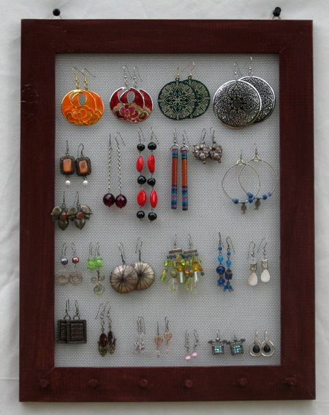 Dark brown hand Painted Jewelry Display Rack