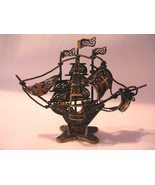 Vintage Filigree Brass Portugal Ship Wire Metal - $39.50