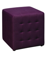 PURPLE Square Mesh Fabric Cube Ottoman Footsto... - $64.99