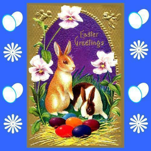 VINTAGE EASTER GREETING CARDS SCRAPBOOKING CRAFT CD V.2
