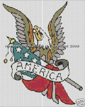 Bead Pattern Eagle & American Flag Peyote S... - $0.00