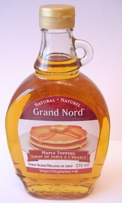 NATURAL MAPLE TOPPING SYRUP BLEND 375ml Bottle