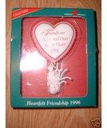 HEARTFELT FRIENDSHIP 1996 FRIEND CHRISTMAS ORNA... - $4.99