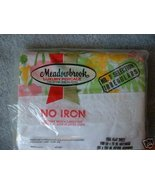 Meadowbrook Luxury Percale FULL FLAT Sheet Gree... - $9.99