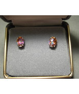 Mystic Fire Topaz Pierced Earrings 925 Sterling... - $16.99