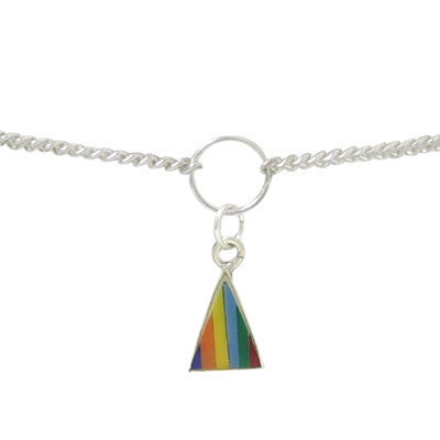 Sterling Silver Belly Chain with Triangle Charm - BC7