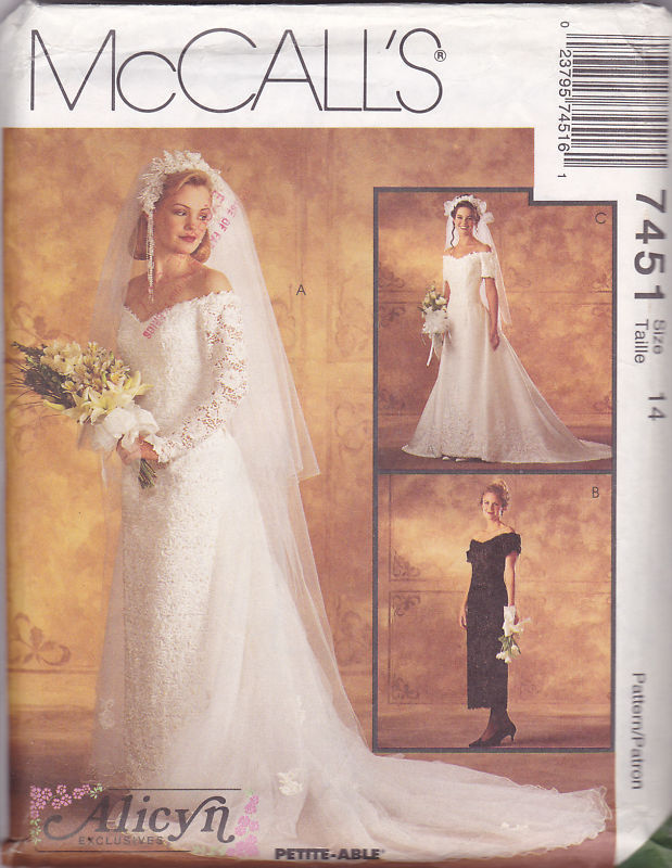 McCalls 7451 Alicyn Designer-Lace Wedding Dress Pattern