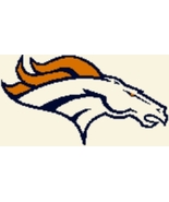 Latch Hook Rug Pattern Chart: DENVER BRONCOS -E... - $5.75