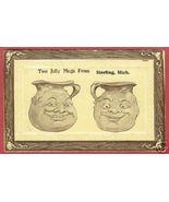 Sterling Mi Comic Jolly Mugs Michigan 1912 Post... - $6.50