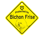Buy Gifts and Collectibles - Bichon Frise Protected By Dog Sign and caution Gift