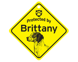 Buy Gifts and Collectibles - Brittany Protected By Dog Sign and caution Gift