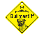Buy Gifts and Collectibles - Bull Mastiff Protected By Dog Sign and caution Gift
