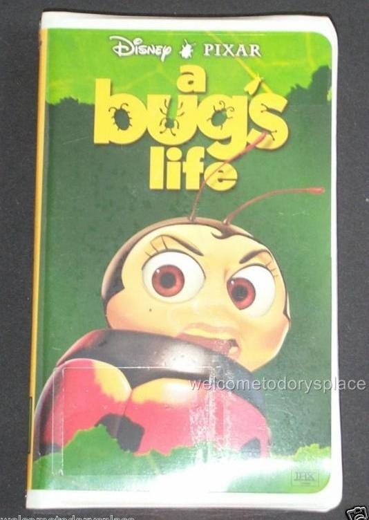 Disney Pixar A Bug's Life VHS Video 1999 CLAMSHELL features FRANCIS Ladybug NEW