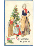 A Merry Christmas To You All Vintage Tucks Pos... - $5.00