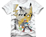 Pokemon Ash & Pikachu Men Anime T-shirt (White)