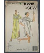 Kwik Sew sewing pattern 1203 - Nightgown - Size... - $5.50