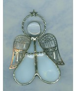 Handmade Stained Glass Angel  Filigree Wings C... - $6.49