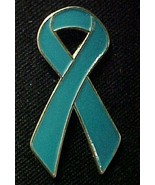 Teal Ovarian Cancer Hope Awareness Ribbon Lapel... - $6.97