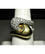 14k Gold Puzzle Ring with Diamonds Ciemme Yin Y... - $999.00