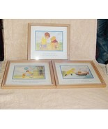 Winnie The Pooh Friends 3 Framed Prints 100 Ac... - $80.00